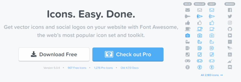The featured image of 文字のように扱えるアイコンフォント「Font Awesome 5」の導入と疑似要素で表現する時の注意点