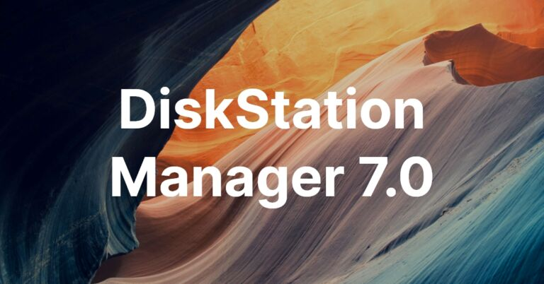 The featured image of Synology NAS の OS を DSM7.0 にアップグレードしました!